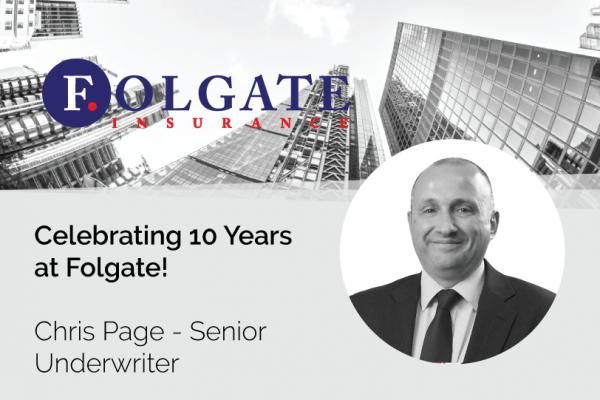 Chris Page 10 Years Folgate Insurance